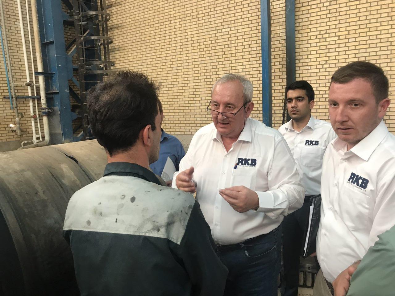 بازدید تیم فنی RKB سوئیس و برگزاری سمینار در کارخانجات ایران